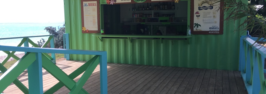 bar at seaside nature park